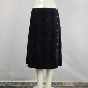 Calvin Klein Black Faux Suede Skirt Size 10